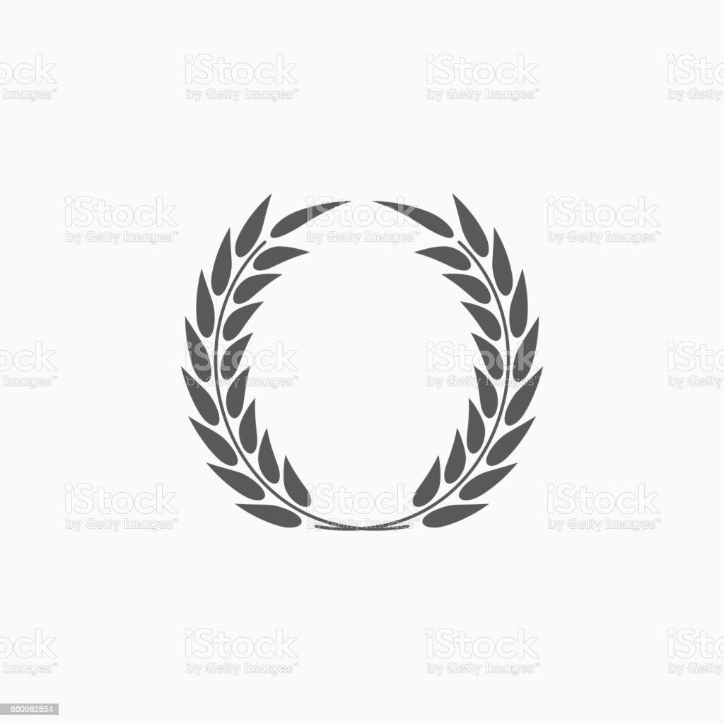 Icono de una corona de Laurel - ilustración de arte vectorial