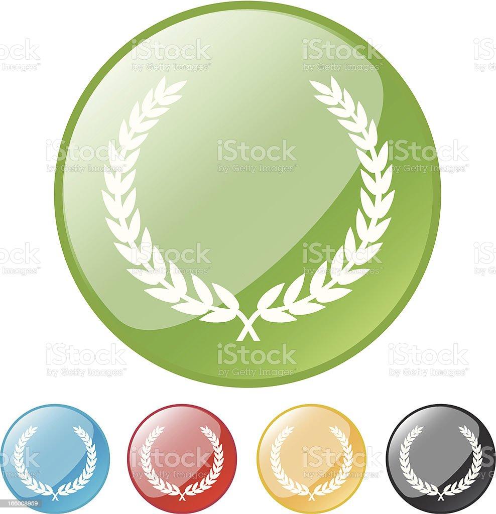 Laurel Wreath Icons royalty-free stock vector art