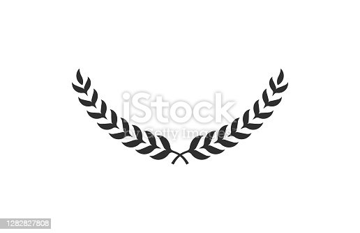 Laurel wreath isolated on white background. Award icon. Symbol of victory. Vector