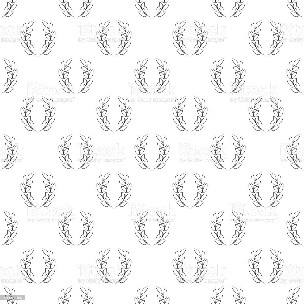 Laurel wreath pattern seamless royalty-free laurel wreath pattern seamless stock vector art & more images of backgrounds