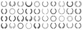 istock Laurel wreath set of various shapes 1208119035