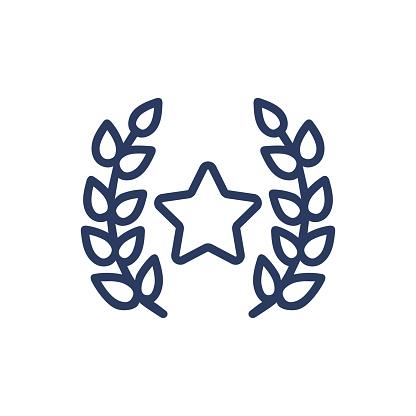 Laurel wreath thin line icon