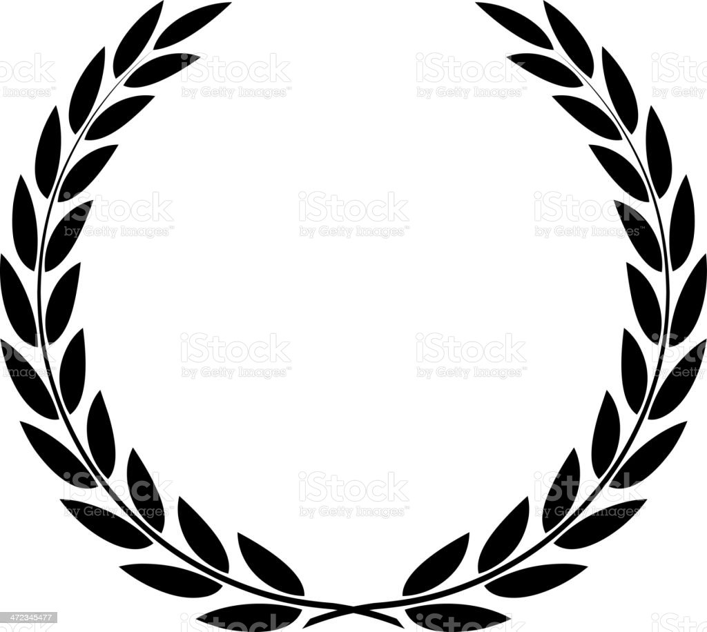 laurel wreath vector isolated stock vector art more images of rh istockphoto com free laurel wreath vector clipart laurel wreath vector art free