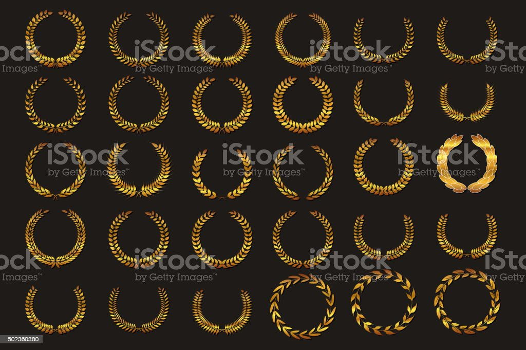 Laurel wreath vector vector art illustration
