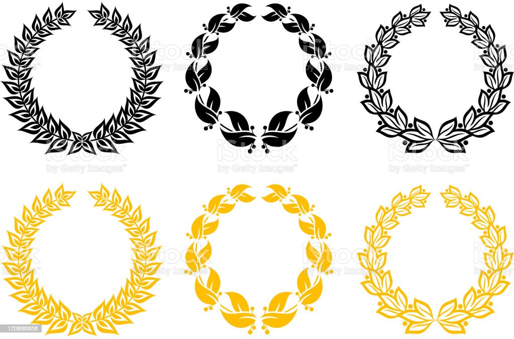 Laurel wreathes royalty-free stock vector art