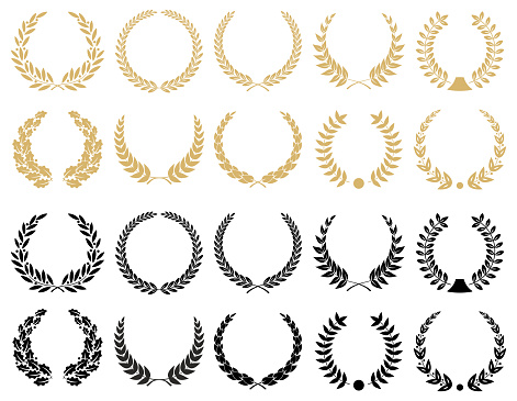 Laurel Wreaths Set - illustration