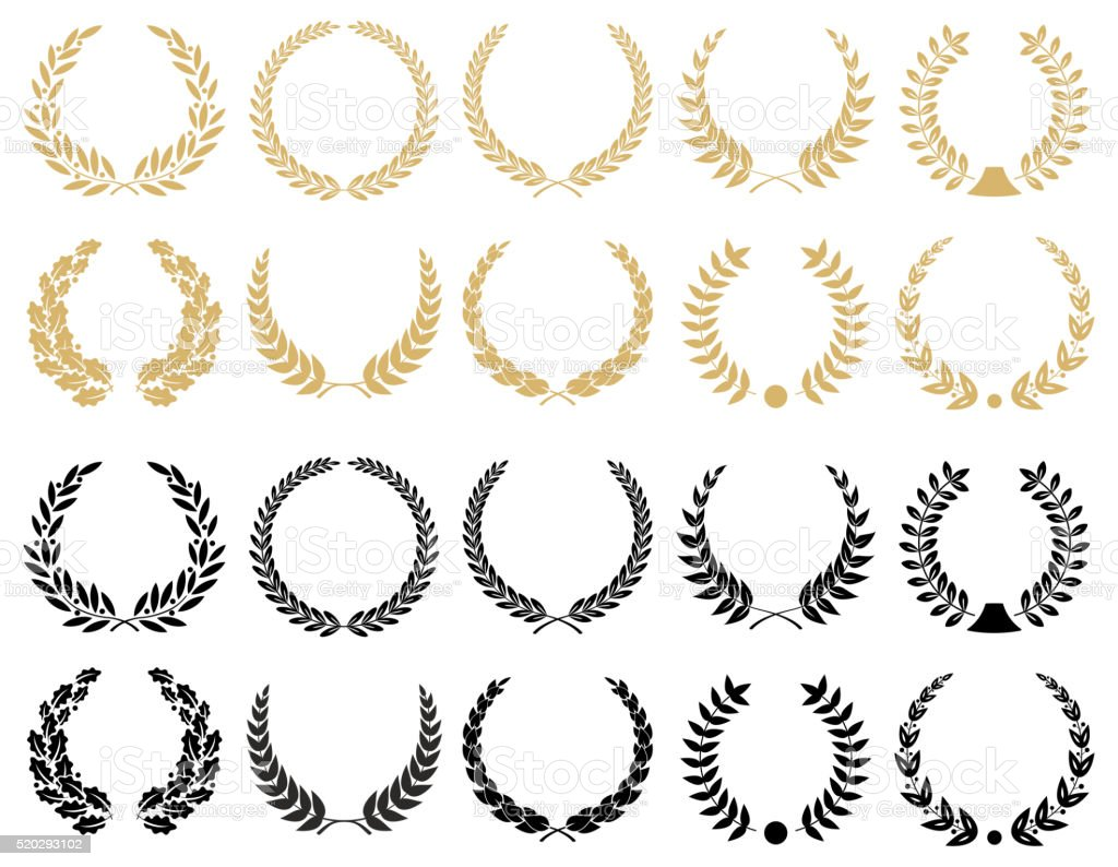 Laurel Wreaths Set - illustration vector art illustration