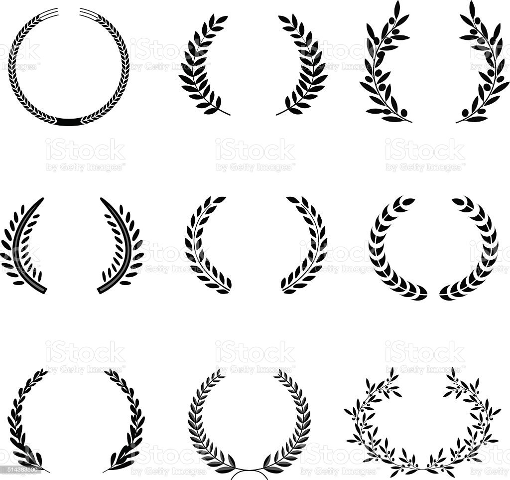 Laurel Wreaths Vector. Elements vector art illustration
