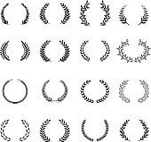 Laurel Wreaths Vector. Elements