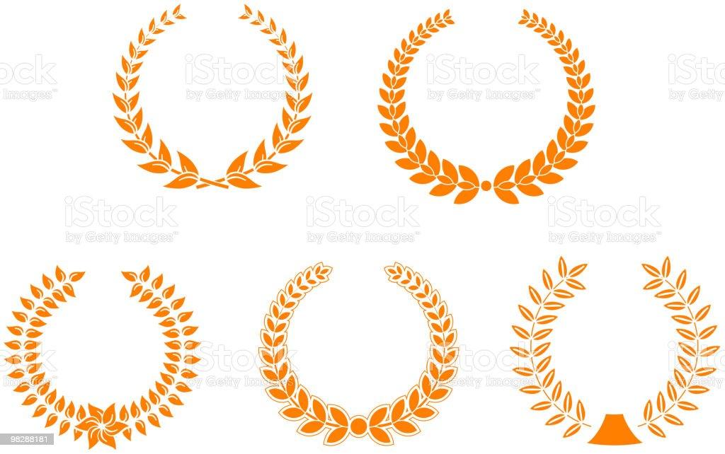 Corone dell'alloro corone dellalloro - immagini vettoriali stock e altre immagini di competizione royalty-free