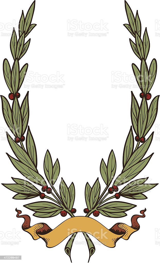 laurel_6604-Color royalty-free stock vector art