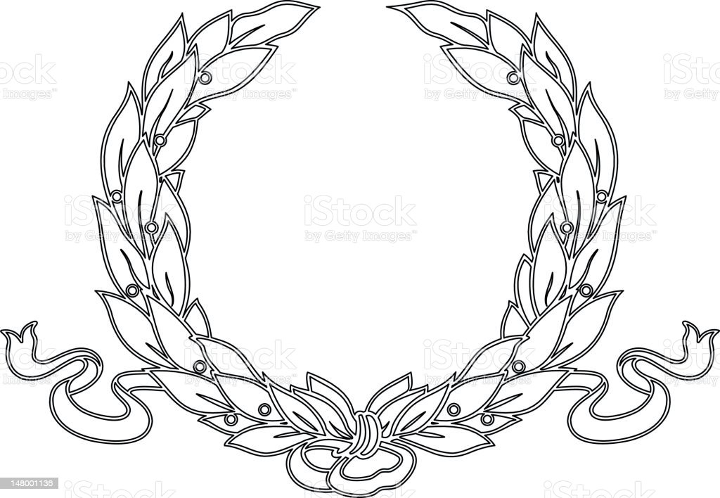 laurelwreath1 royalty-free stock vector art