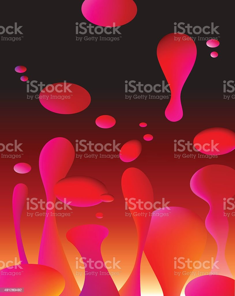 Lava Lamp Background Vector Art Illustration