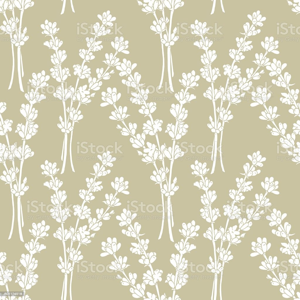 Lavender. A seamless pattern for a print on packaging. Vector....
