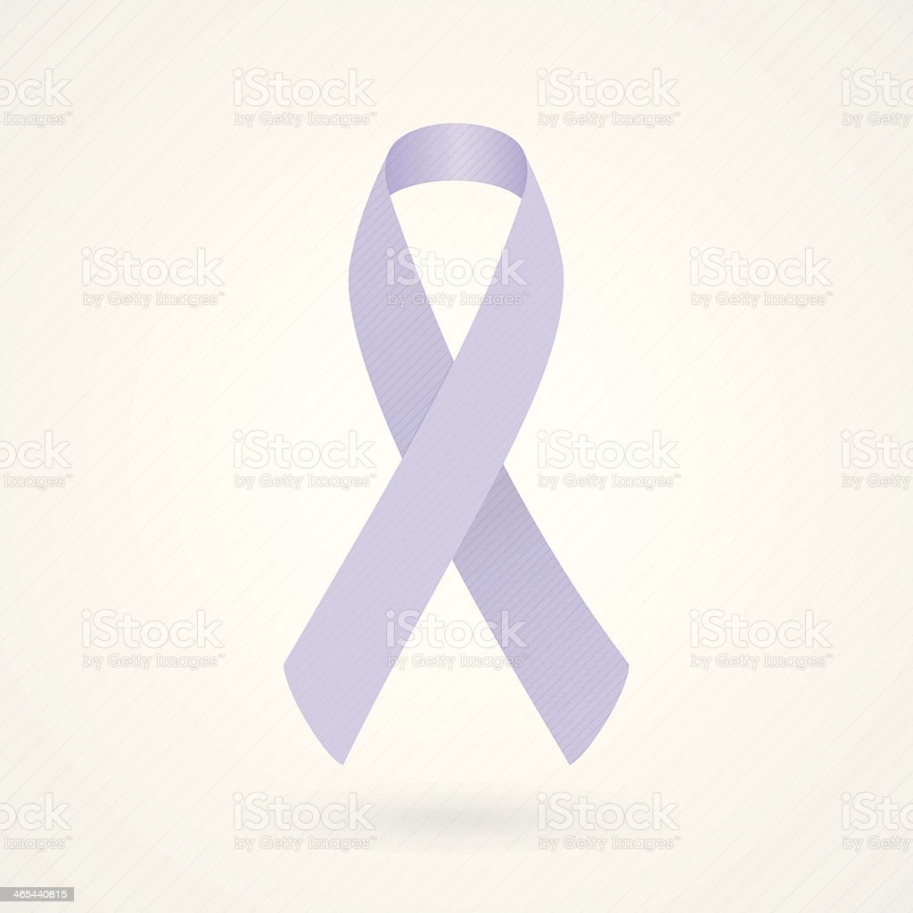 Lavender awareness ribbon vector art illustration