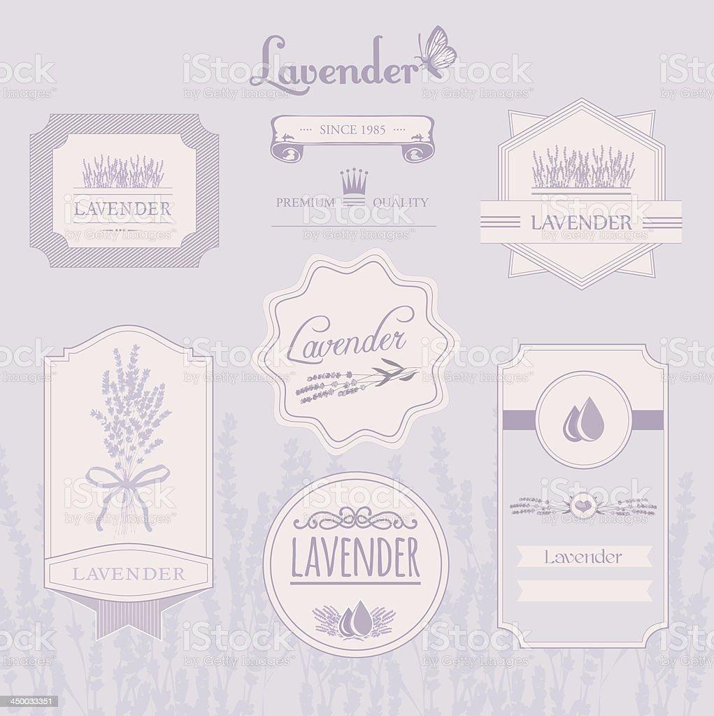 Lavender background, vector art illustration