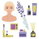 Lavender beauty set