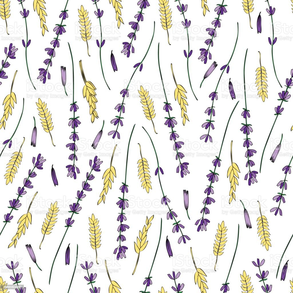 Lavender Pattern Wallpaper