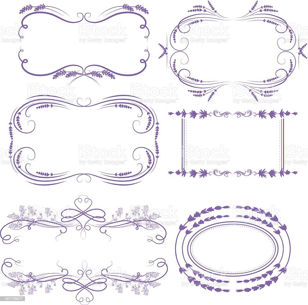 lavender frames royalty-free stock vector art