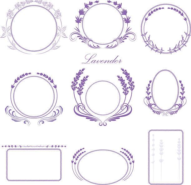 Lavender frames Lavender frames lavender color stock illustrations