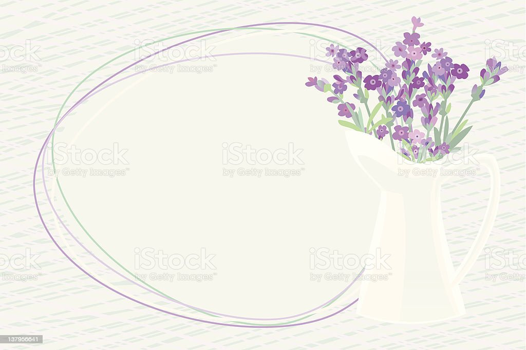 Lavender vector art illustration