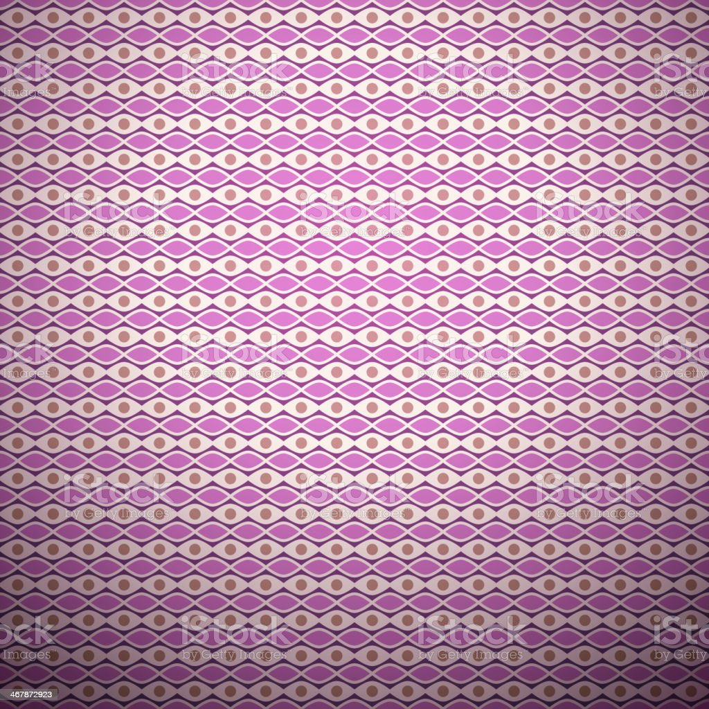 Lavender vector seamless pattern (with square swatch) vector art illustration