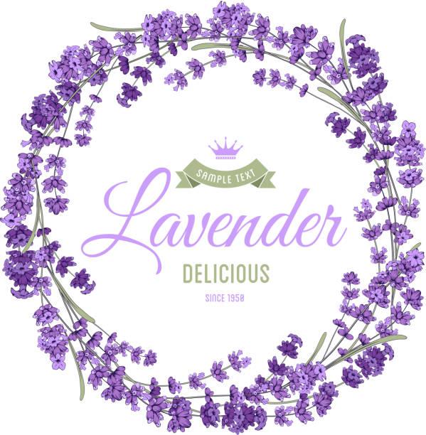 bildbanksillustrationer, clip art samt tecknat material och ikoner med lavender wreath - lavender engraving
