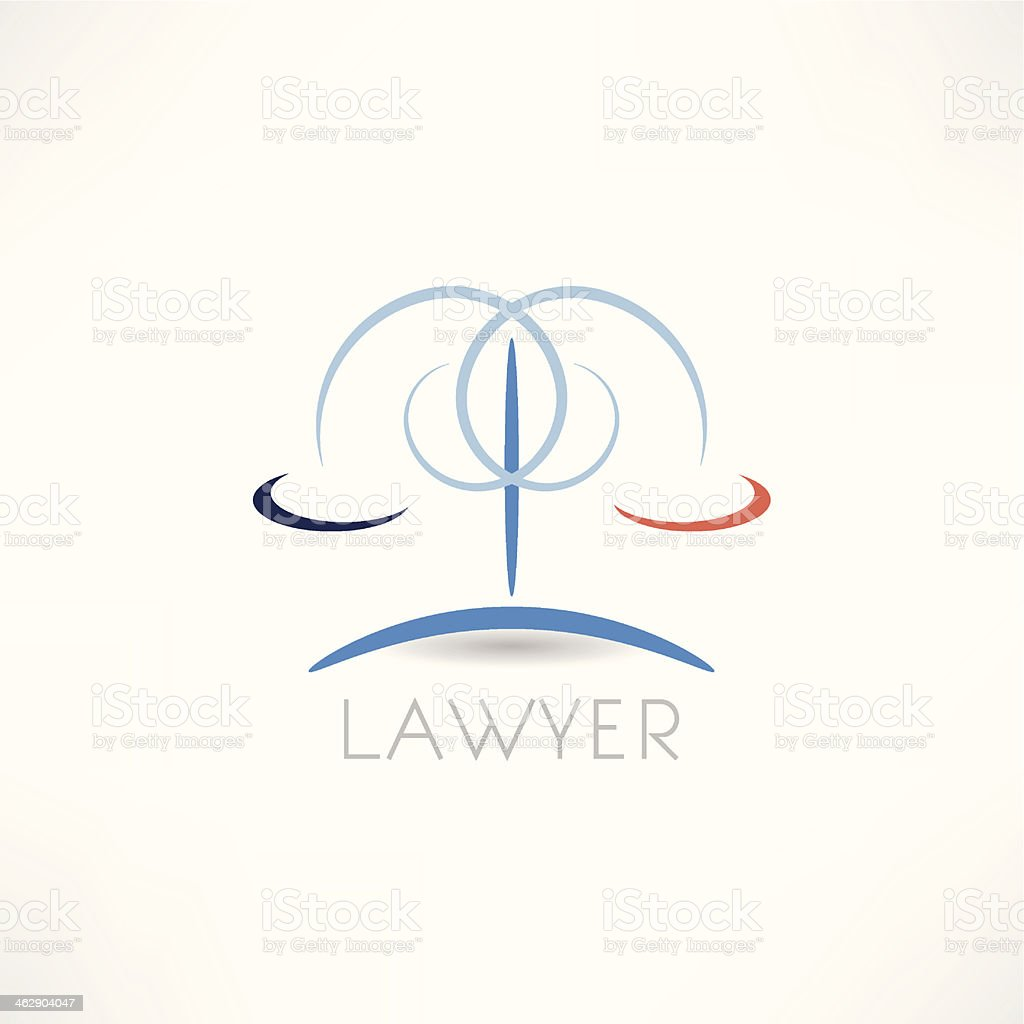 law  abstraction icon vector art illustration