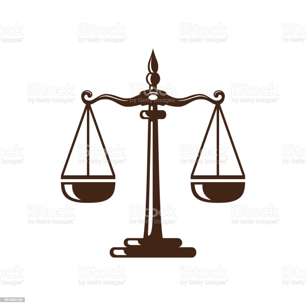 Law and Attorney Symbol, elegant Firm vector Design royalty-free law and attorney symbol elegant firm vector design stock vector art & more images of balance
