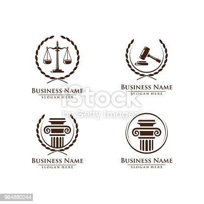 Law And Attorney Symbol Elegant Firm Vector Design Stock Vector Art & More Images of Balance 964880244