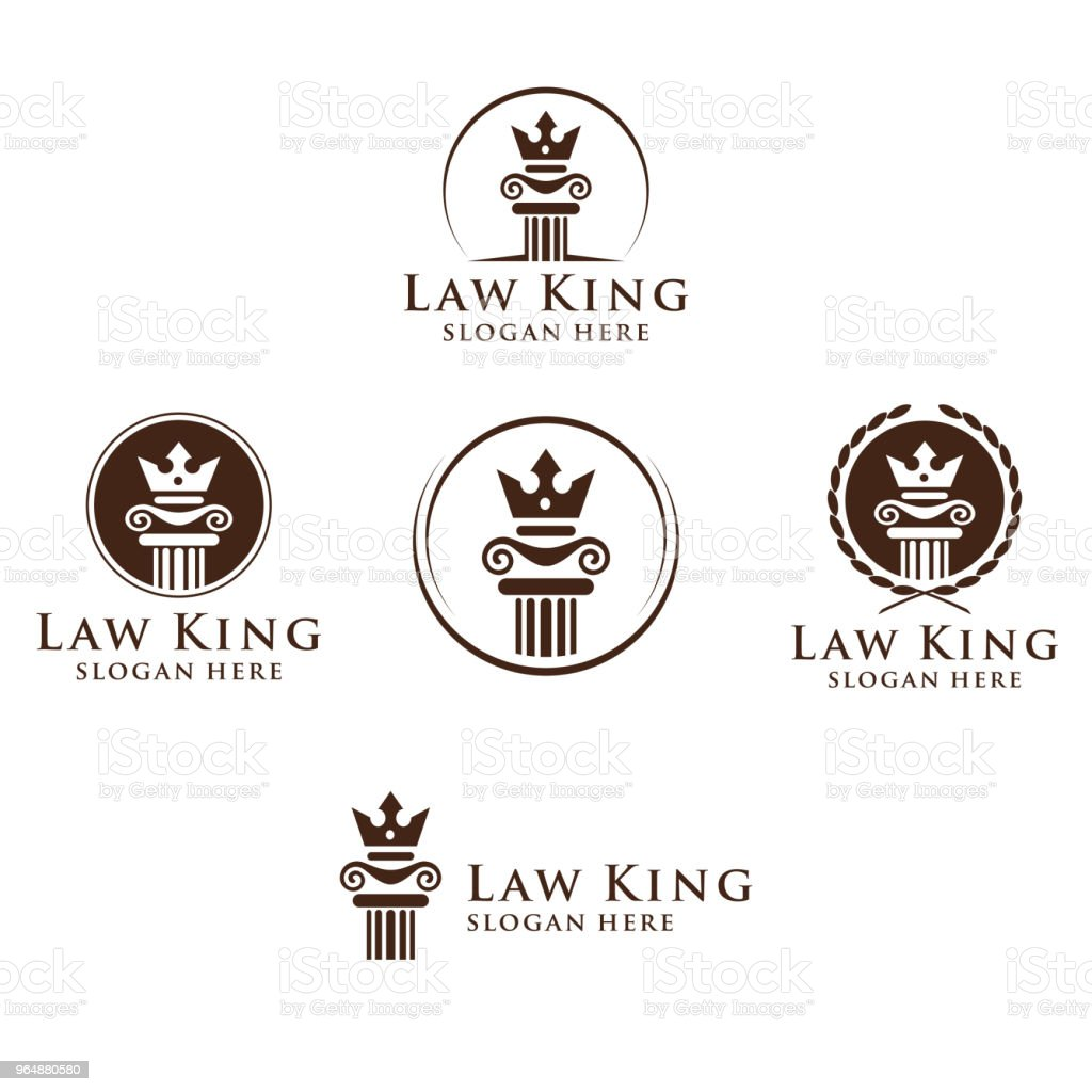 Law and Attorney Symbol, elegant Firm vector Design royalty-free law and attorney symbol elegant firm vector design stock illustration - download image now