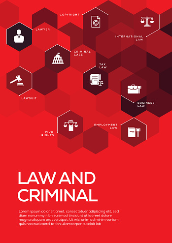 Law and Criminal. Brochure Template Layout, Cover Design
