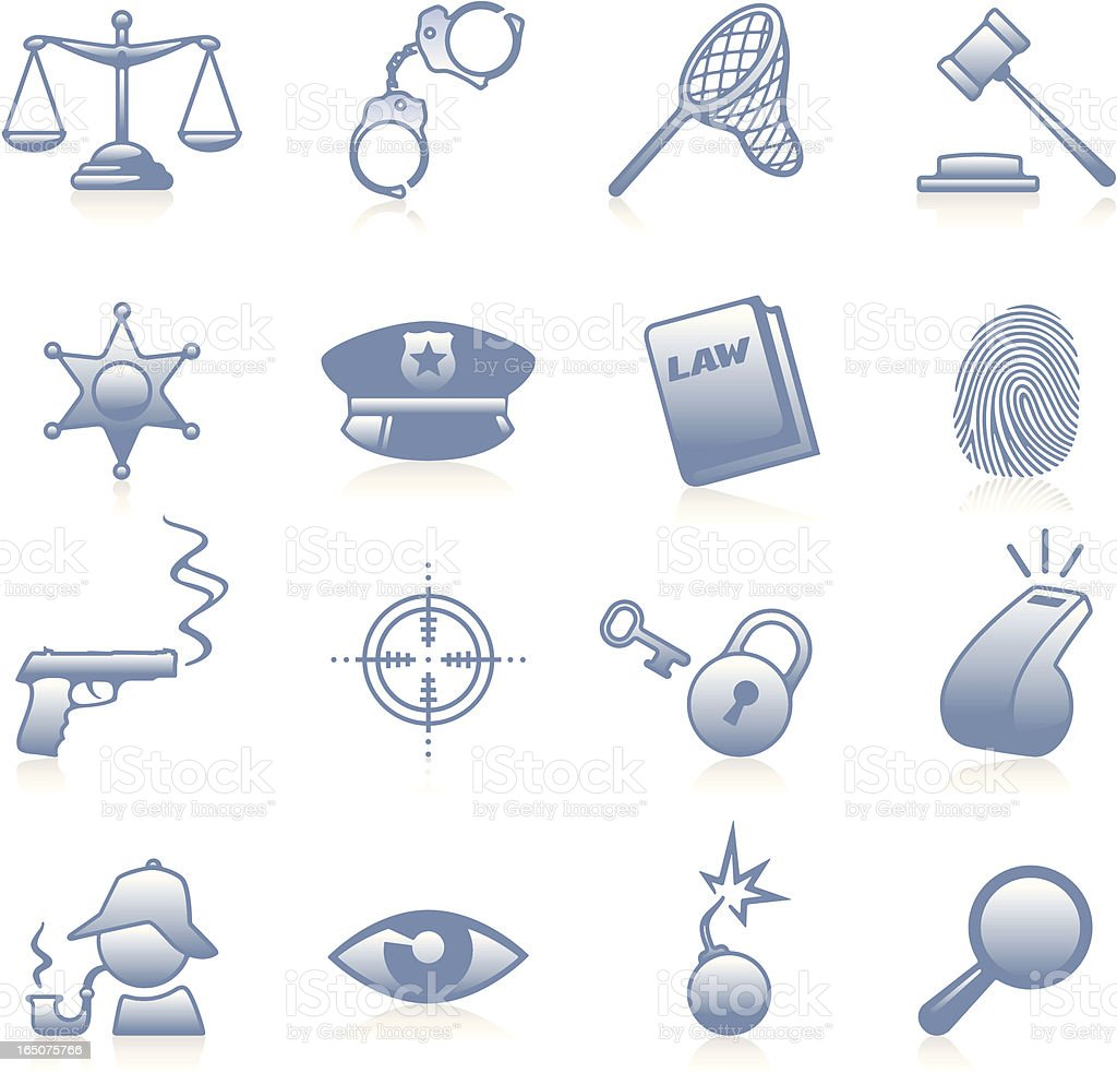 Law and Justice Icons - Blue royalty-free law and justice icons blue stock vector art & more images of auction