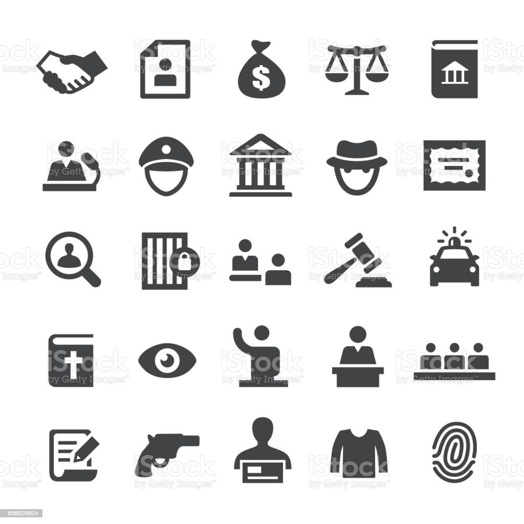 Droit et Justice Icons - série Smart - Illustration vectorielle