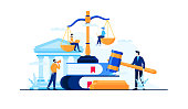 istock law and justice knowledge vector illustration concept flat design 1246849397