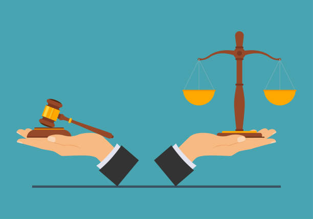 law and justice Justice concept, law and justice concept. Vector illustration. judge law stock illustrations