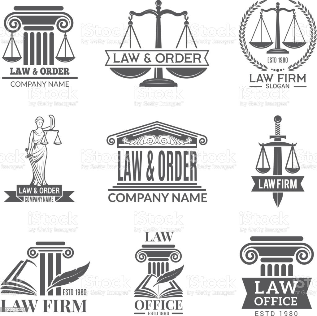 Law And Legal Labels Legal Code Judge Hammer And Other Corporate