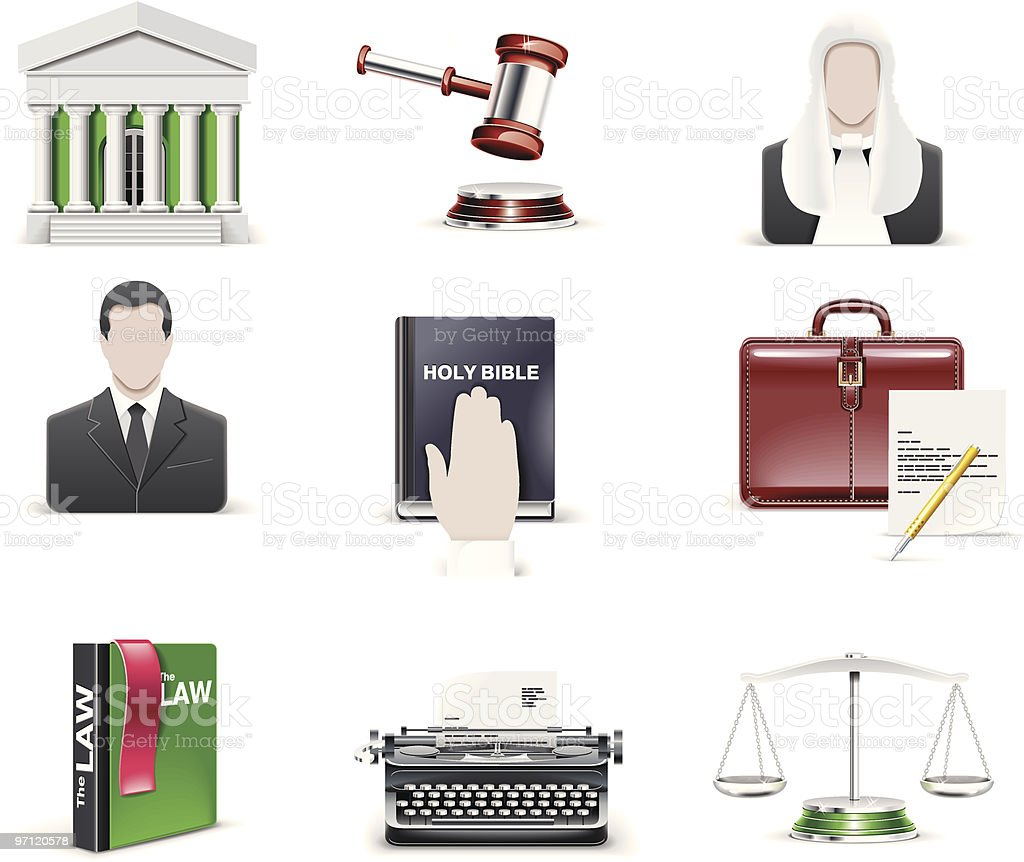 Law and order icon set royalty-free law and order icon set stock vector art & more images of assertiveness