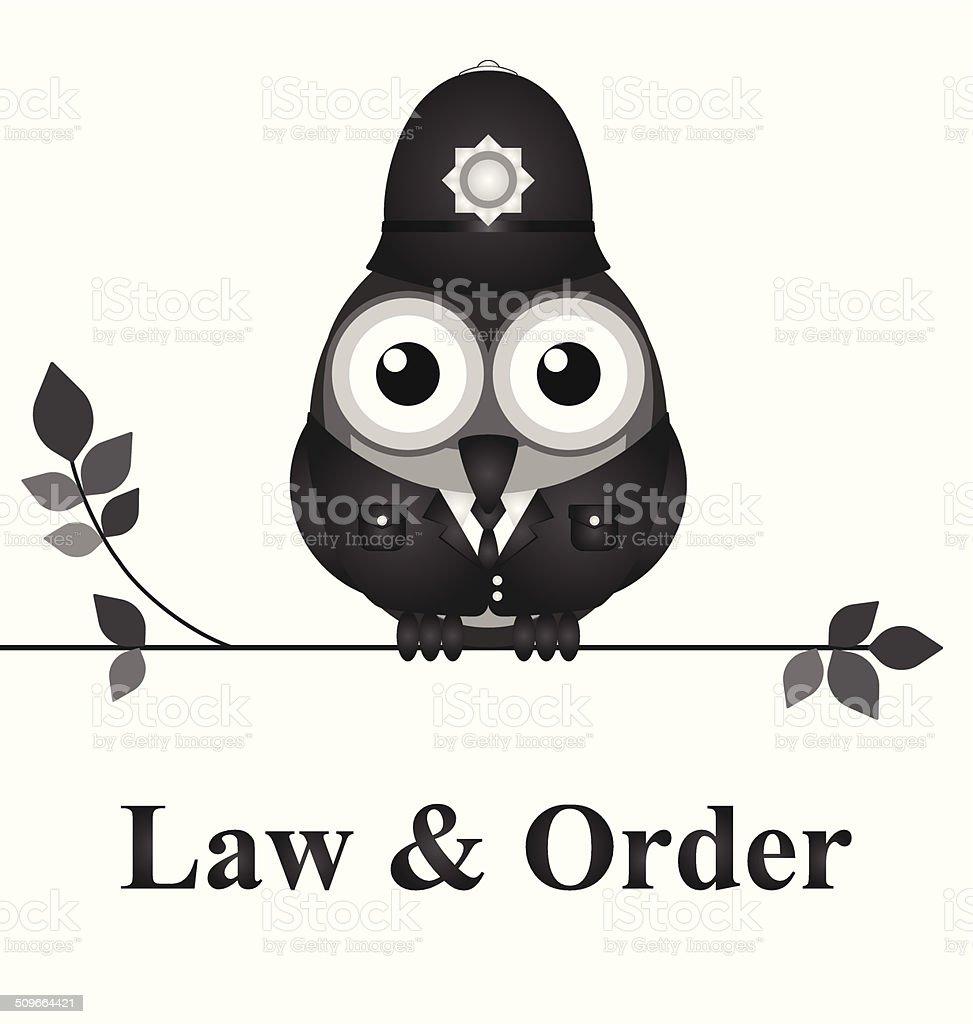 Law and Order UK vector art illustration
