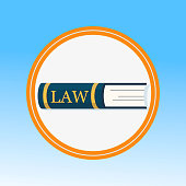 Law Book, Legal Education Flat Vector Illustration