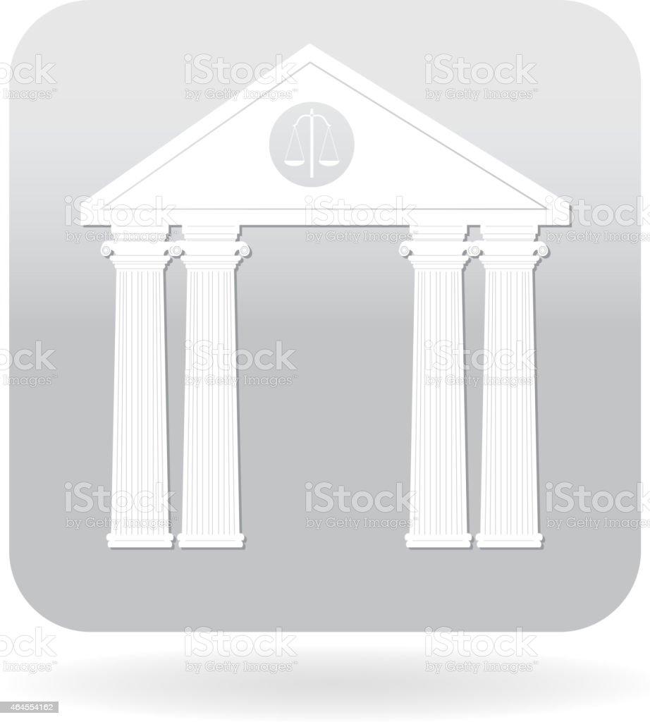 Law building icon vector art illustration