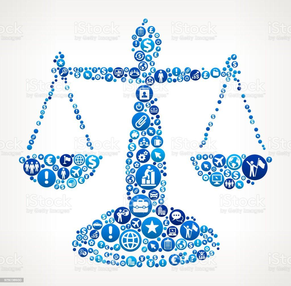 Ilustración de Patrón De Icono Azul De Derecho Empresarial Y ...