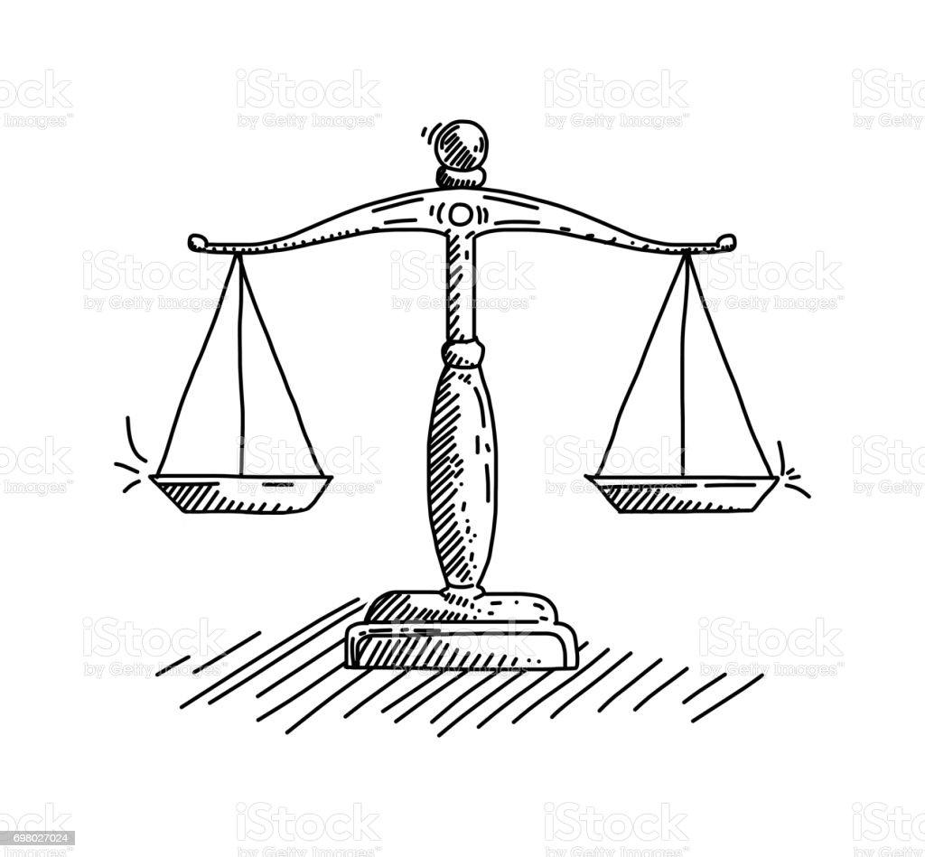 Law Concept vector art illustration