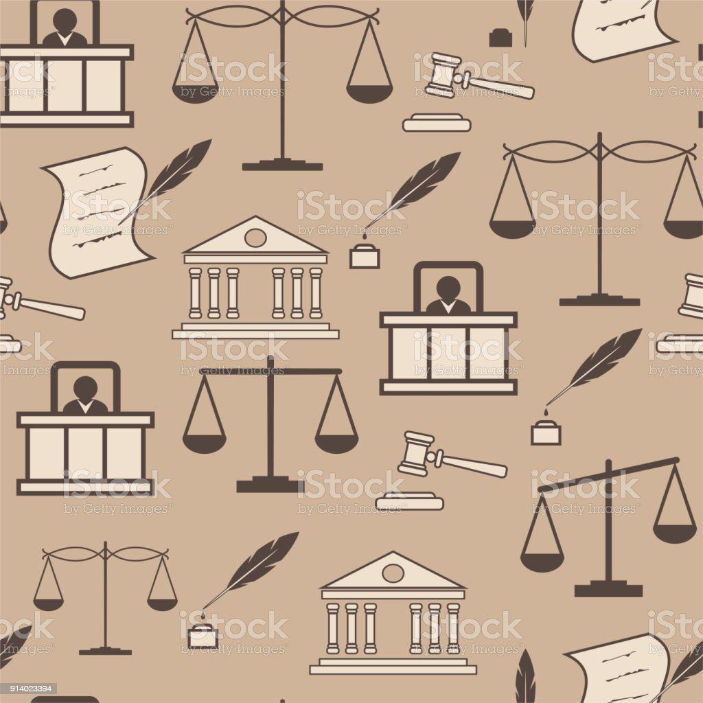 Ilustración de Patrón De Elementos De Derecho Fondo Beige De Juicio ...