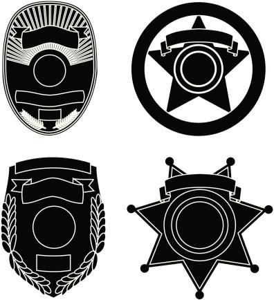 Law Enforcement Badge Silhouettes