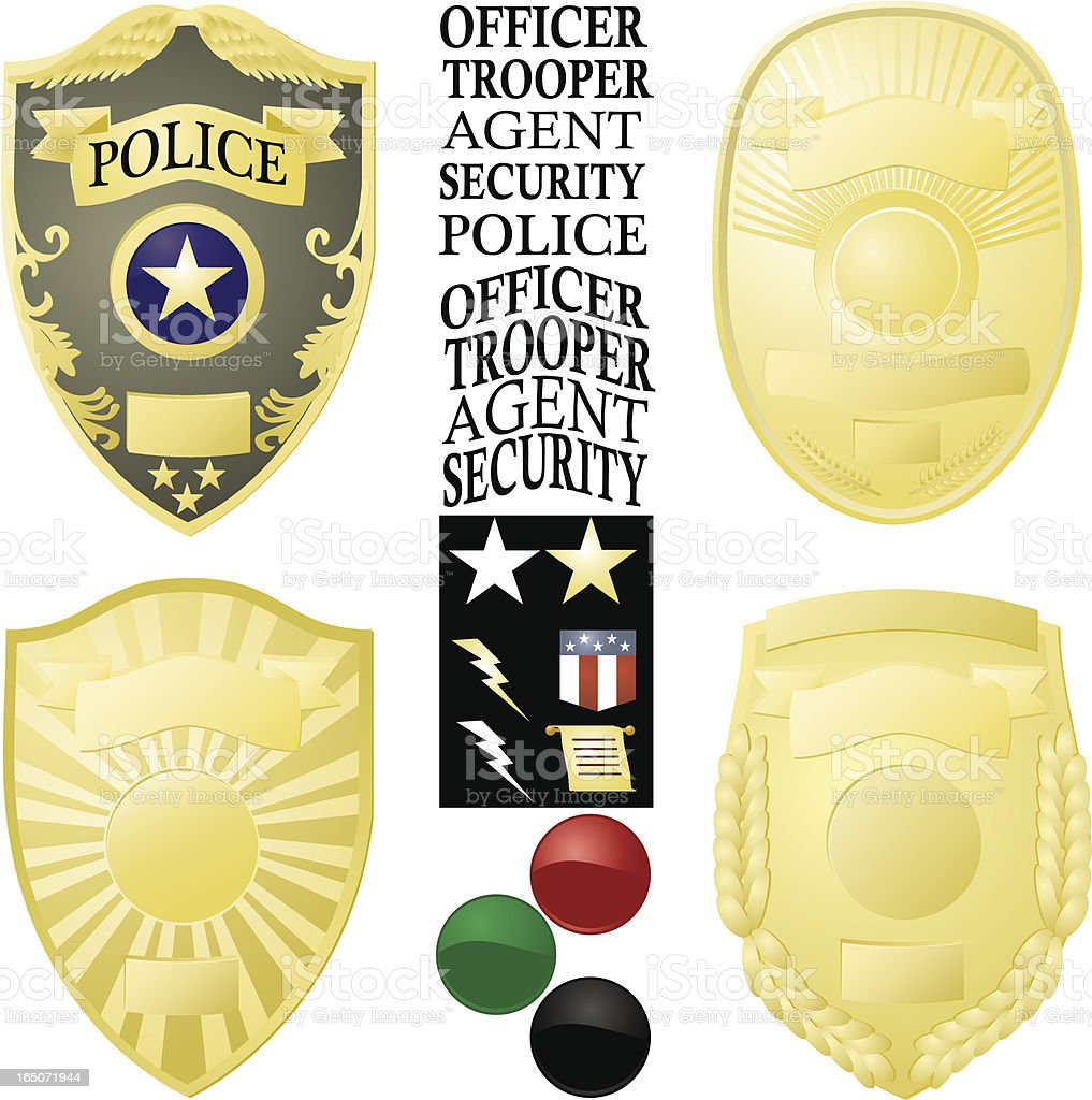 Law Enforcement Badge Vector Images royalty-free stock vector art
