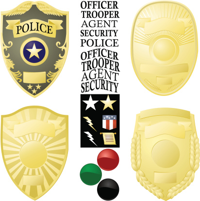Law Enforcement Badge Vector Images