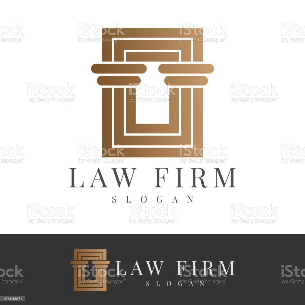 law firm icon - illustrazione arte vettoriale