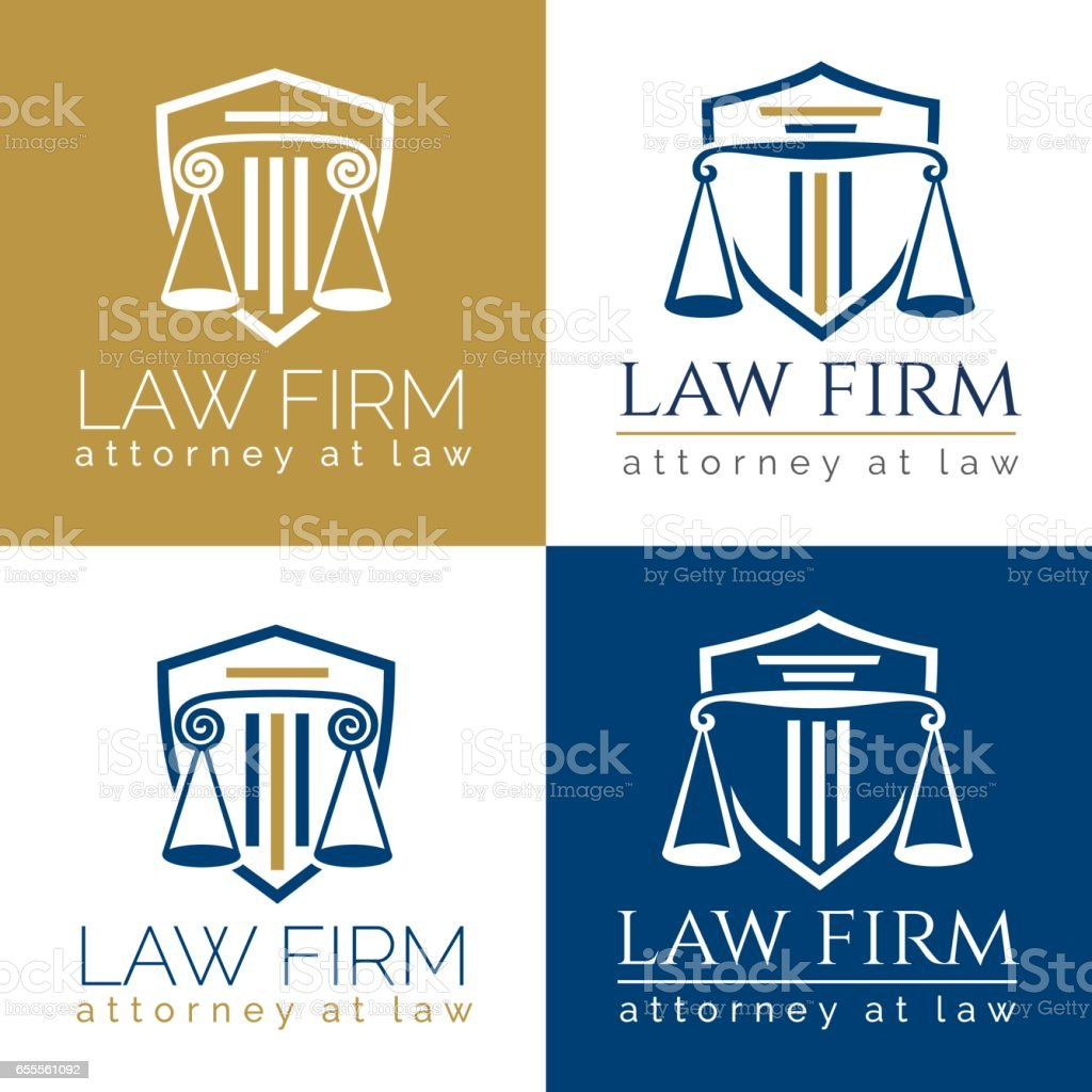 law firm logo Column - illustrazione arte vettoriale