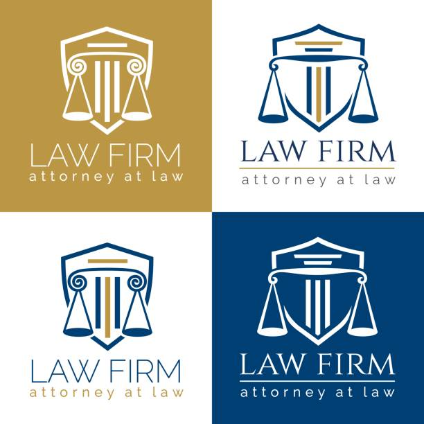 law firm logo column - lawyer stock illustrations, clip art, cartoons, & icons